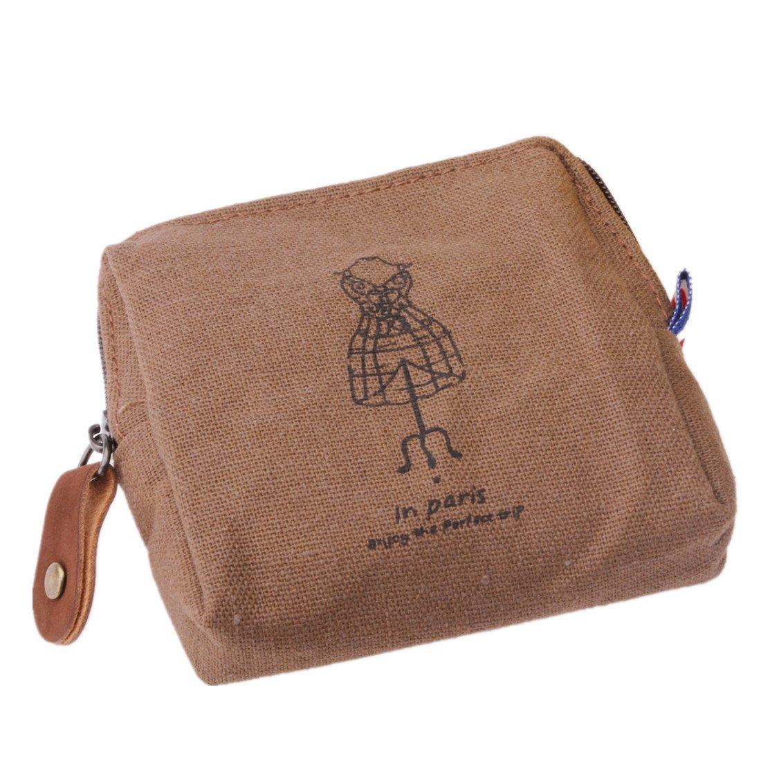 KINGSO Femme Fille Porte-Monnaie Pochette Sac Sachet Rétro Portable Pour Clé Clef Carte Portefeuille Wallet Cintre