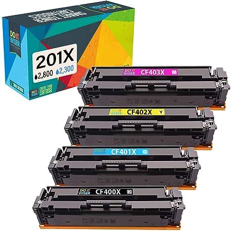 Do it Wiser Cartuchos de Tóner 201A 201X Compatibles para HP 201X ...