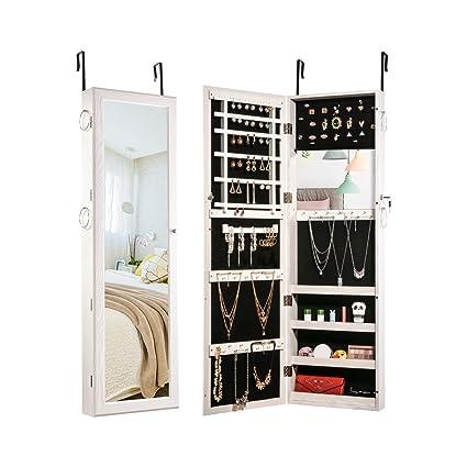 Amazoncom Sunix Jewelry Cabinet Lockable Jewelry Armoire Organizer