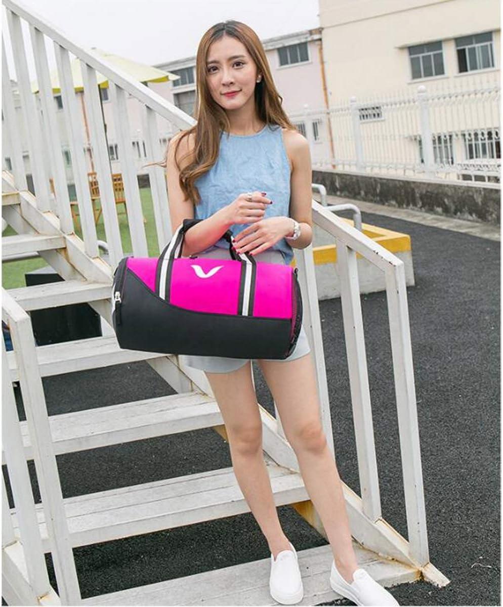 Wet and Dry Separation Waterproof Swimming Bag Men and Women Portable Messenger Bag Yougou01 Sports Bag Large Capacity Gym Bag Cylinder Bag Size: 432323cm Solid