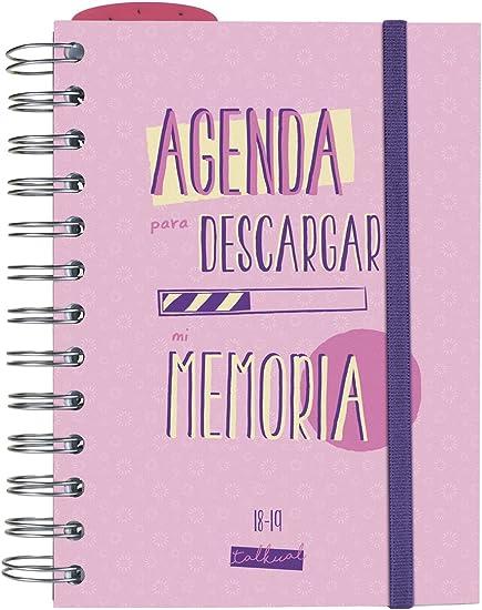 Finocam Talkual - Agenda 2018-2019 1 día página español, 120 x 169 mm, rosa: Amazon.es: Oficina y papelería