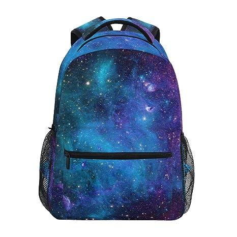 ZZKKO Galaxy Star Universe Space Nebula Mochilas Colegio Libro Bolsa de viaje Senderismo Camping Daypack