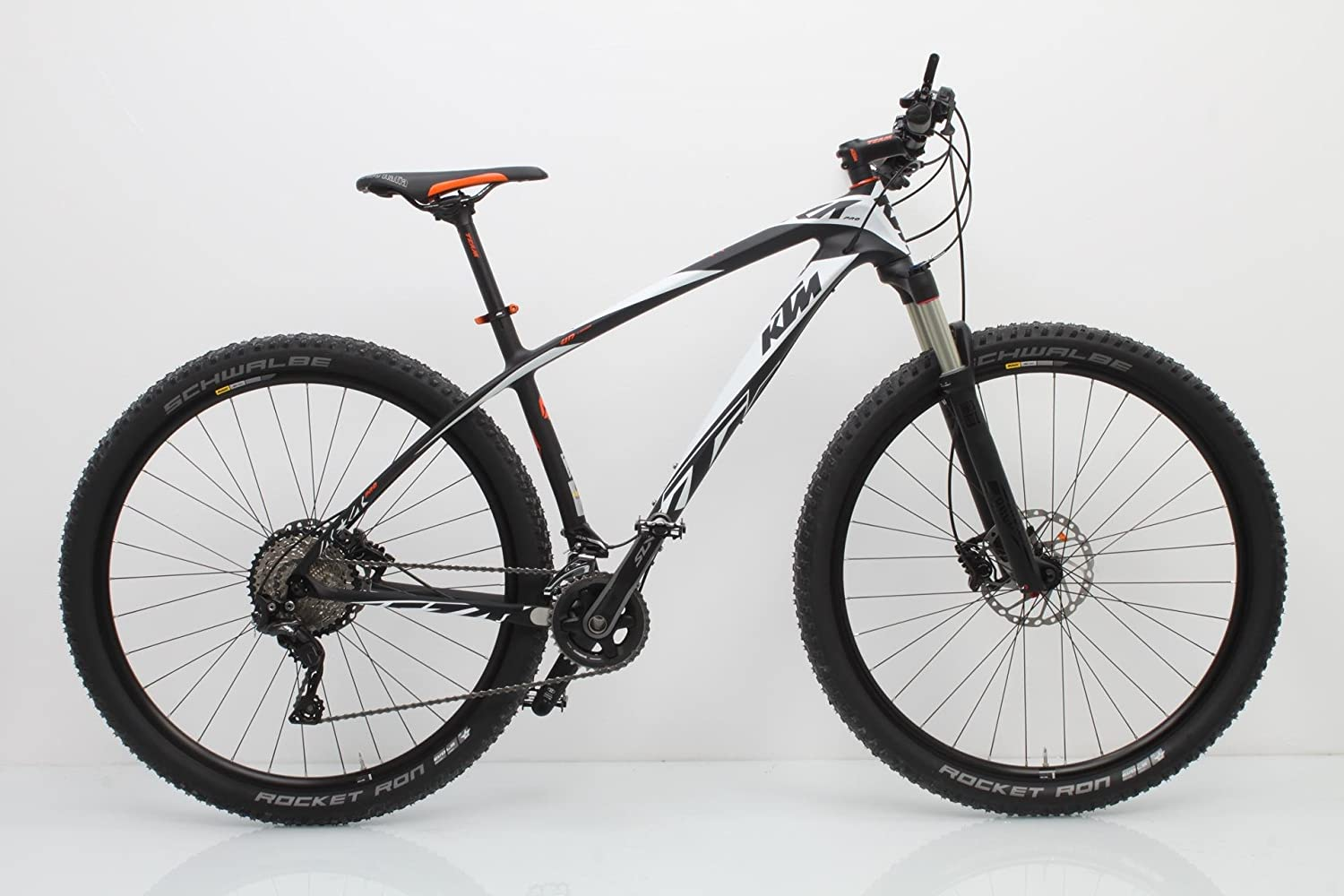 KTM Aera Pro 29 Mountain Bike 22 Gang Carbon Blanco Naranja Plata ...