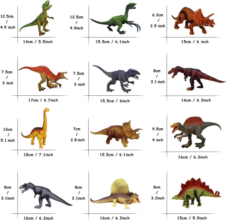 Yojoloin Dinosaures Jouet Enfant Jouet Dinosaure Chiffres Educatif Jouets pour Enfants Cr/éatures Pr/éhistoriques Dinosaure Jouet Ensemble Cadeaux de No/ël 37 PCS