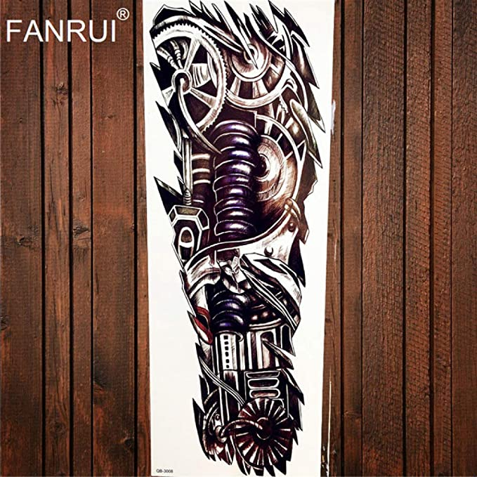 Full Body Arm Tattoo Eye Watch Totem Waterproof Black Tattoo ...