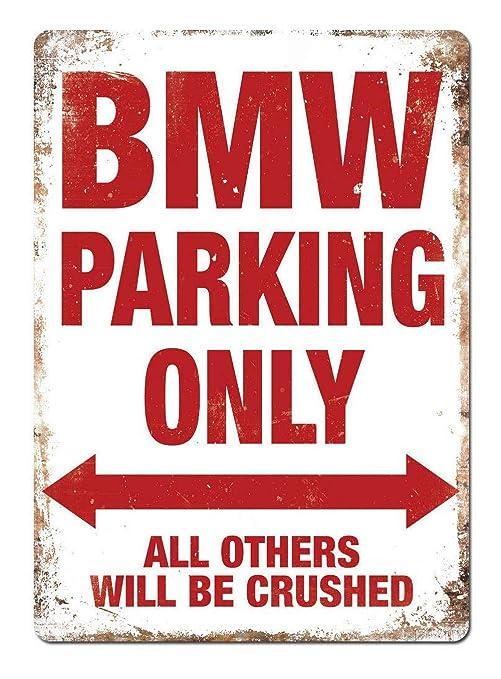 HALEY GAINES BMW Parking Only Placa Cartel Póster de Pared ...