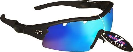 37 RayZor Uv400 Dark Red Sports Wrap Sunglasses Clear Amber Lens RRP£49