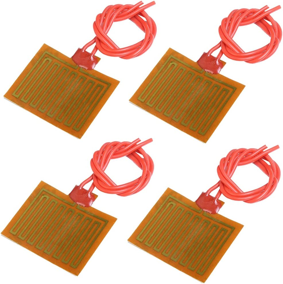 Icstation 5V 1W Flexible Polyimide Heater Plate Adhesive PI Heating Film 30mmx40mm (Pack of 4)
