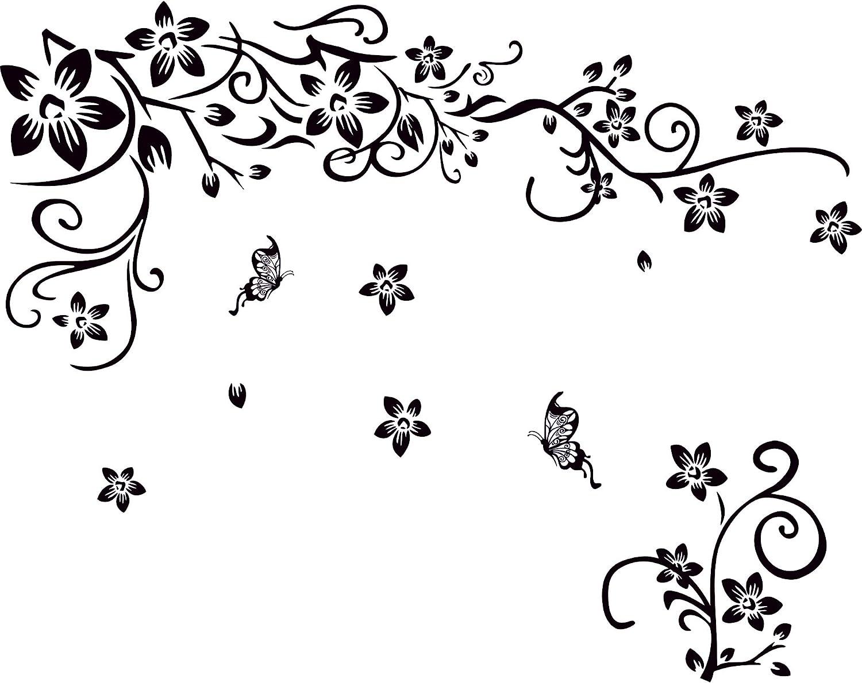 Removable Flower Vine Refrigerator Art Sticker Wall Stickers Home Decor Decals O