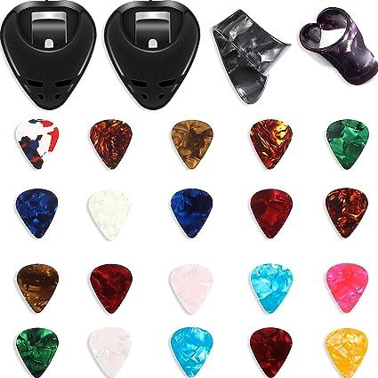 24 Púas de Guitarra con Soportes de Púas Kit de Accesorio de ...