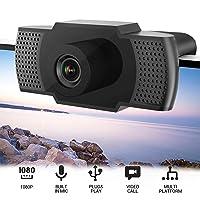 Deals on Flowmist 1080P HD Webcam with Microphone