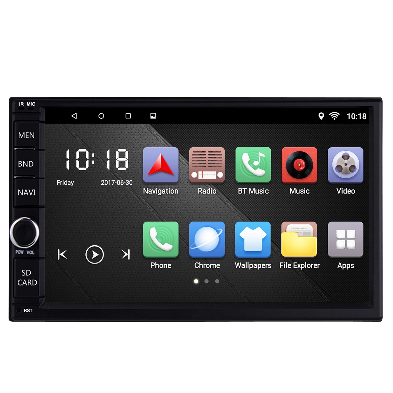 Ezonetronics Android 6.0 Quad Core Car Radio Stereo 2 Din 7 inch Capacitive Touch Screen High Definition 1024x600 GPS Navigation USB SD Player 2G DDR3 16G NAND Memory Flash Rhythm Electronics Limited RM-CT008