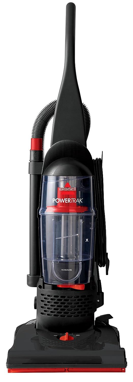 Bissell 2083C Powertrak Bagless Upright Vacuum, Black/Red