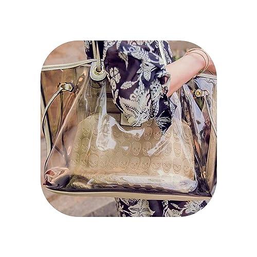 Amazon.com: Bolso de playa para mujer, transparente, bolsa ...