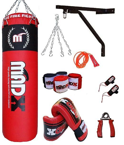 3 opinioni per MADX- Set per boxe e MMA con sacco, guantoni, staffa da parete, 10 pezzi