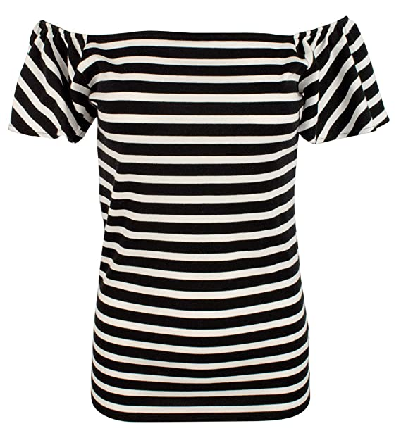 211202593d Lauren Ralph Lauren Women's Striped Off-The-Shoulder Top