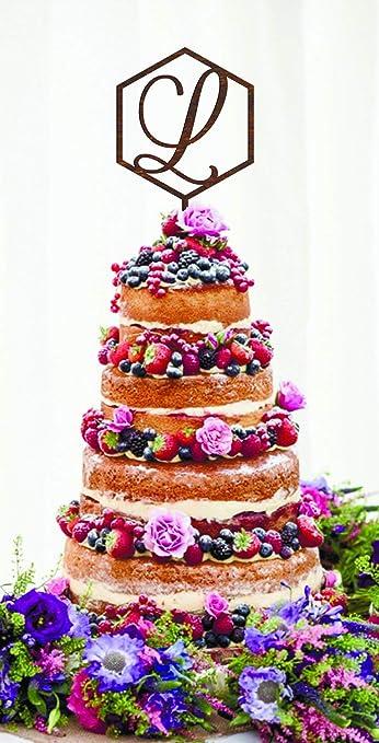 Geometric Cake Topper L Wedding Personalized Cake Topper