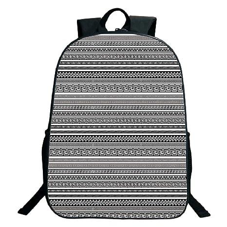 ca057492c764 Amazon.com: 3D Print Design Black School Bag,backpacksAntique Decor ...
