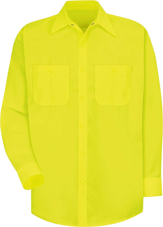 Red Kap Mens RK Enhanced Visibility Work Shirt