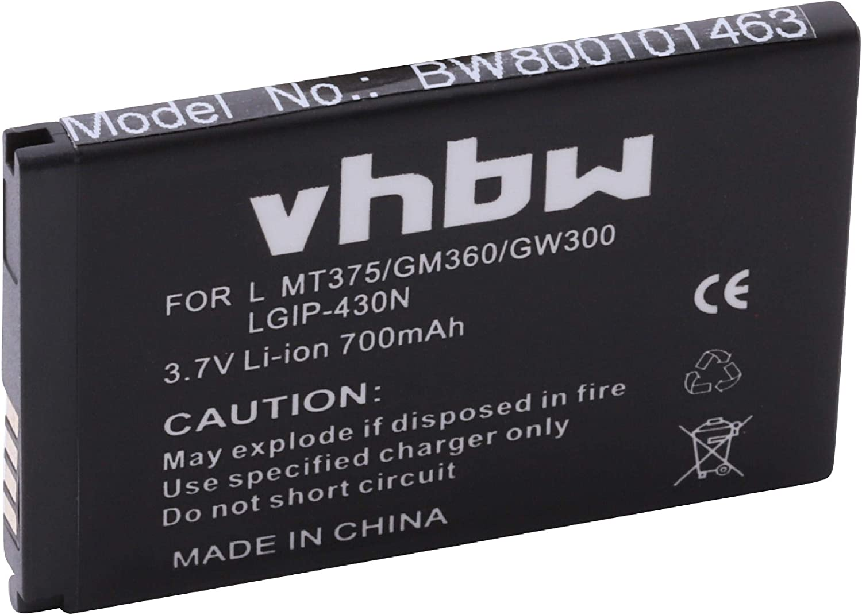 vhbw Li-Ion batería 700mAh (3.7V) para móvil, Smartphone, teléfono LG A133 Flip Phone y SBPL0098901, LGIP-430N.: Amazon.es: Electrónica