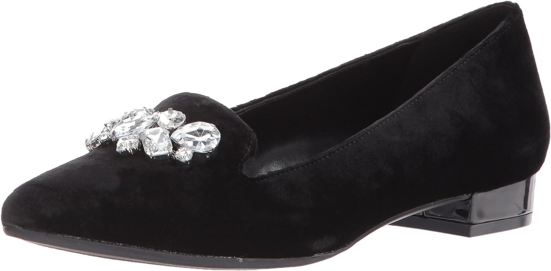 Anne Klein Women's Kamy Velvet Loafer Flat
