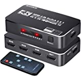 4K HDR HDMI Switch, Koopman 5 Ports 4K 60Hz HDMI 2.0 Switcher Selector with IR Remote, Supports Ultra HD Dolby Vision…