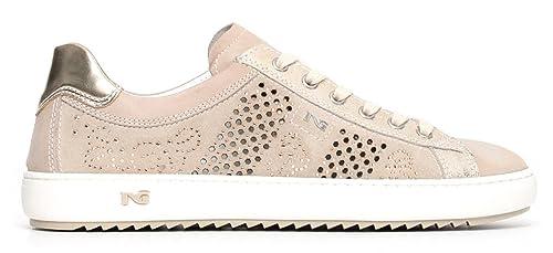 Sneaker Nero Giardini P805100D 410 5090 scarpe donna sportive beige Savana