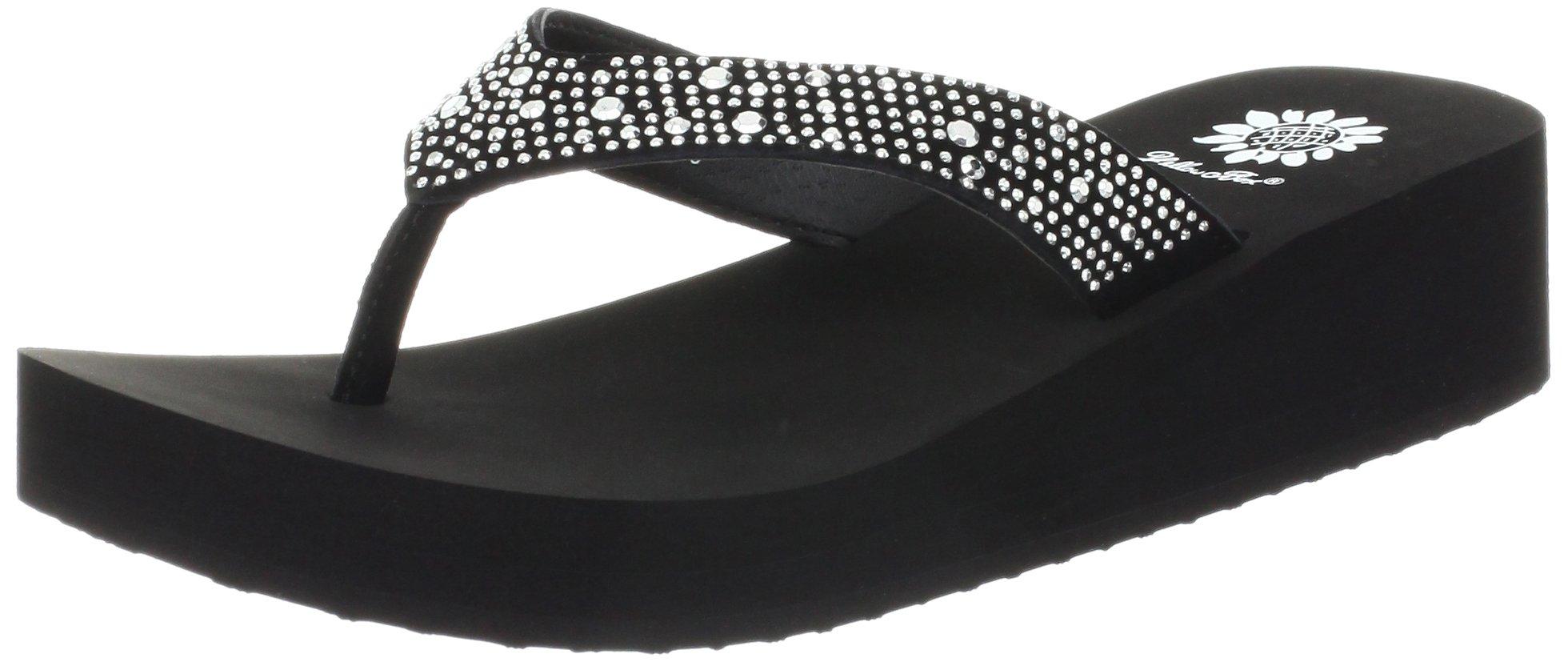 8683dad45c64d Details about Yellow Box Women's Africa Wedge Flip Flop, Black, - Choose  SZ/color