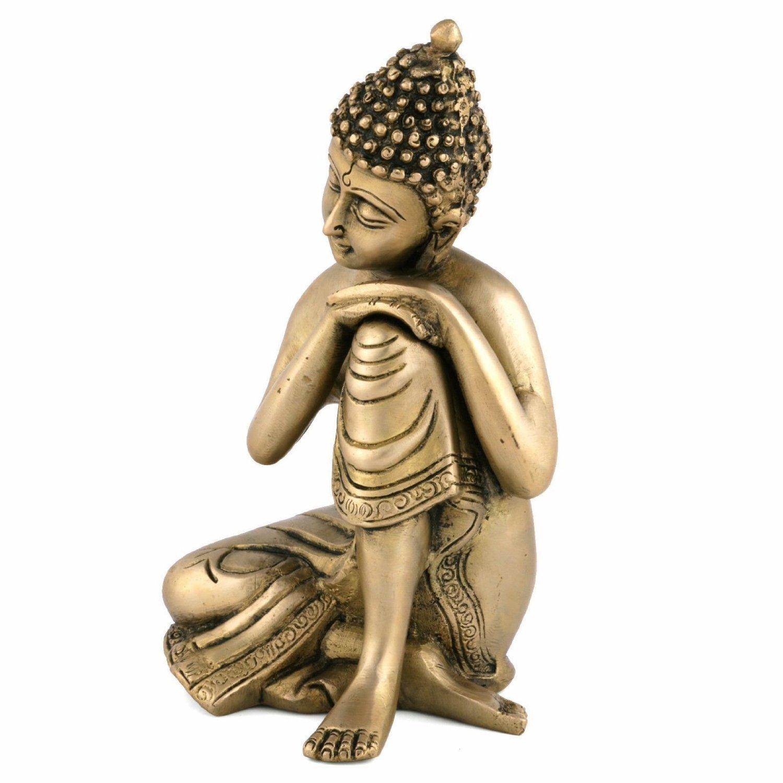 Amazoncom Aapnocraft Golden Buddha Idols Sitting & Resting Buddha Sculpturemurti
