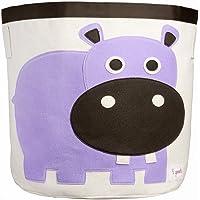 3 Sprouts Hipopótamo - Cesta para juguetes, unisex
