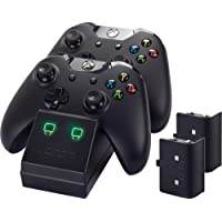 Venom Xbox One Twin Docking Station with 2 x Rechargeable Battery Packs: Black Xbox One