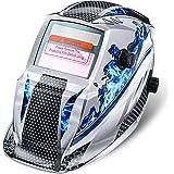 Masque de Soudure NASUM Masque de Soudage/Welding Masque DIN9-13, Énergie Solaire Automatique, Protection de Crâne pour le Soudage/TIG/MIG/MMA, Shield RoHS Certifié (Bleu)