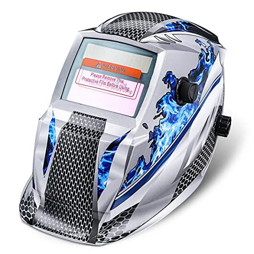 Careta de Soldar, NASUM Casco de Soldadura Solar-Alimentado de Oscurecimiento Automático Máscara de Soldadores para MIG/TIG/MMA (Azul): Amazon.es: Industria ...