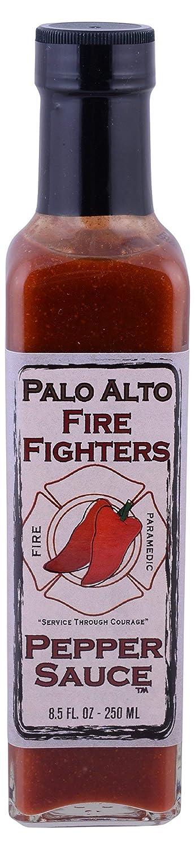 Palo Alto Firefighters, Sauce Hot Pepper, 8 5 Ounce