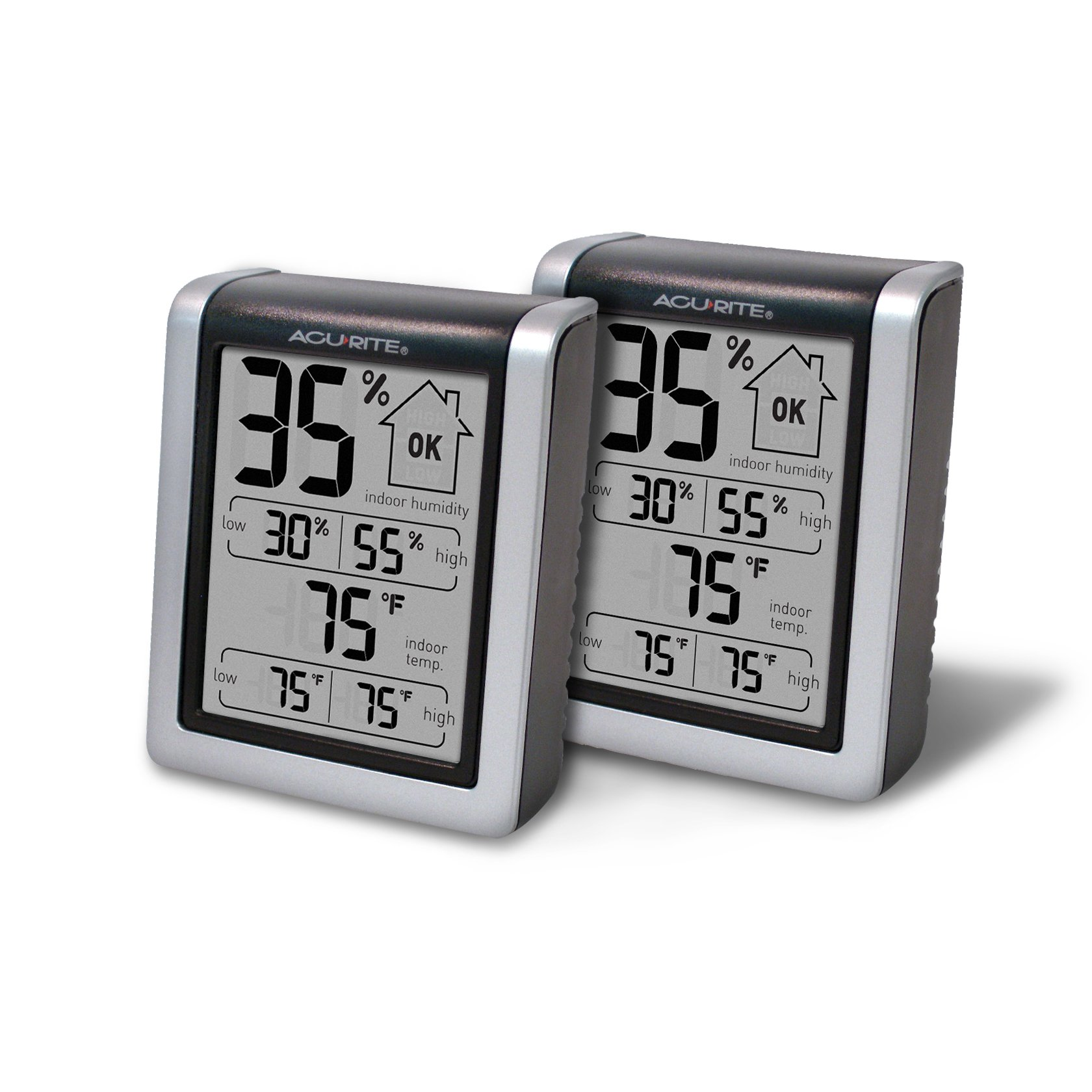 AcuRite 01226M Indoor Humidity Monitor (Pack of 2) by AcuRite