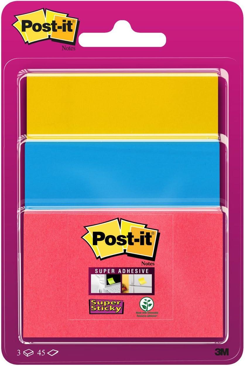 Post-It 3432SS3-BYP-EU - Pack de 3 blocs de notas adhesivas, 47,6 ...