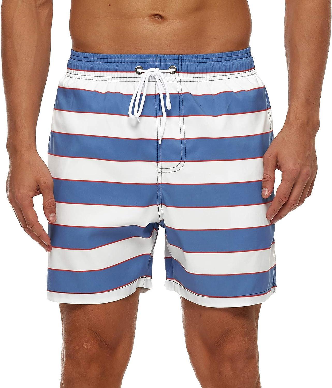 SILKWORLD Men's Swim Trunks with Mesh Lining Quick Dry SwimsuitSports Shorts