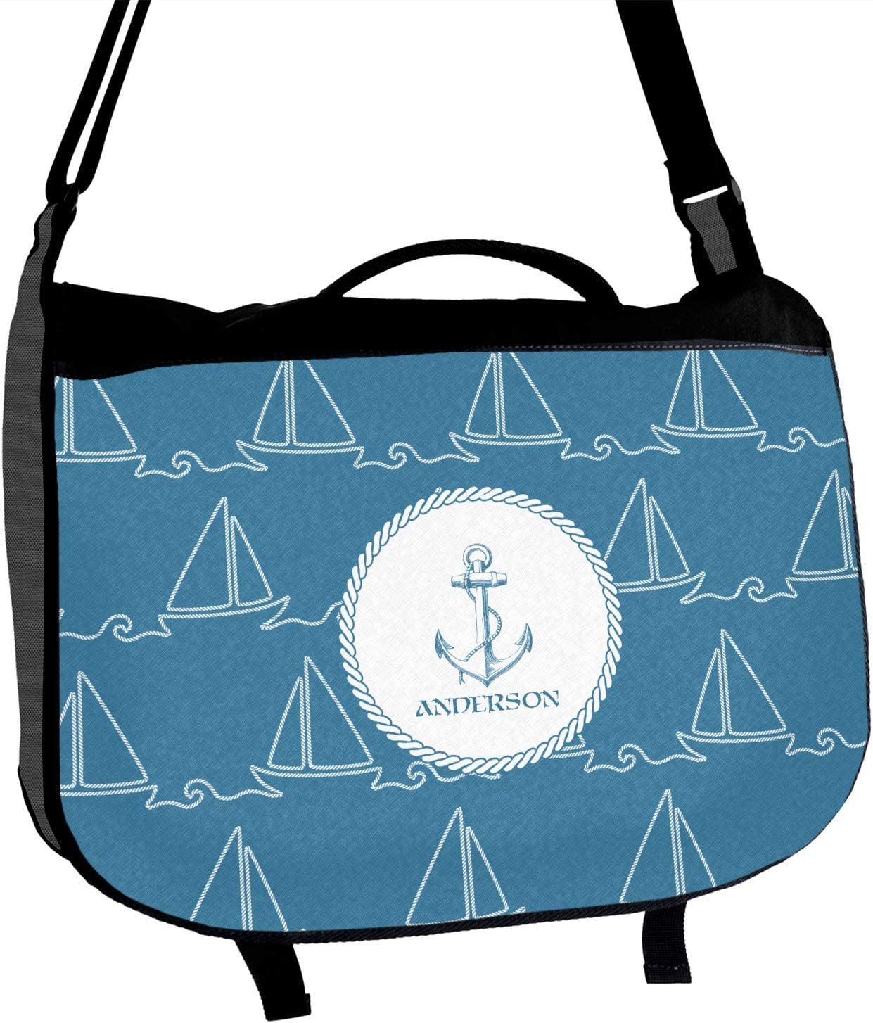 Rope Sail Boats Messenger Bag Personalized