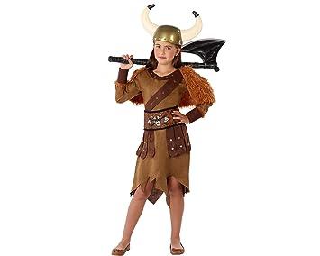 Atosa-61489 Atosa-61489-Disfraz Vikinga-Infantil Niña, Color ...