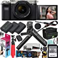Sony a7C Mirrorless Full Frame Camera Body with 28-60mm F4-5.6 Lens Silver ILCE7CL/S Bundle + Vlogger Kit ACCVC1: GP-VPT2BT S