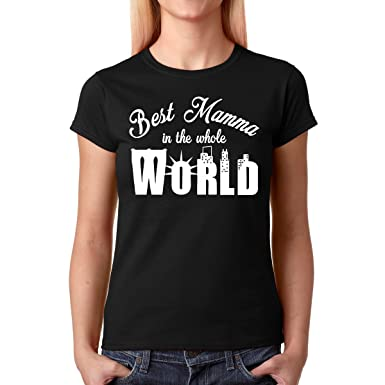 AW Fashions Best Mamma in The Whole World - Premium Women s T-Shirt (Small 2c14e40ef