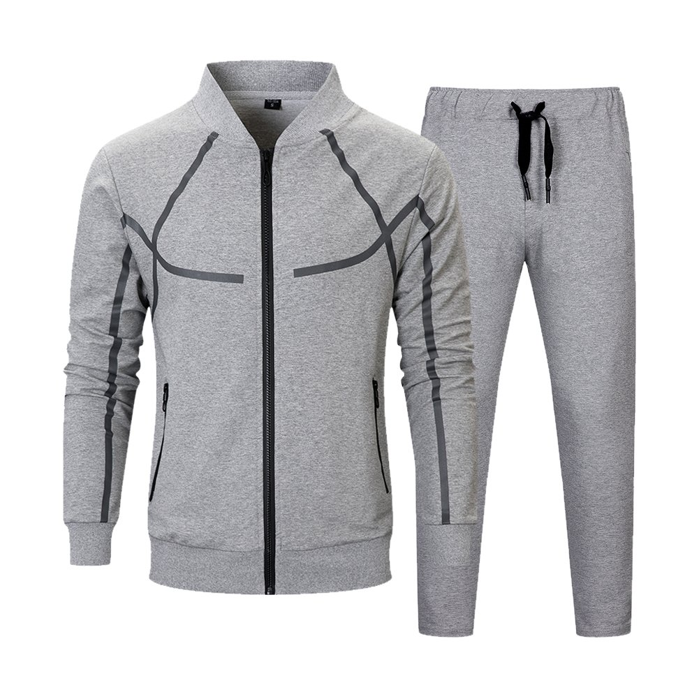 0a3ea389983 MANTORS Men s Full Zip Tracksuit Set Casual Jogging Athletic Sweat Suits  product image