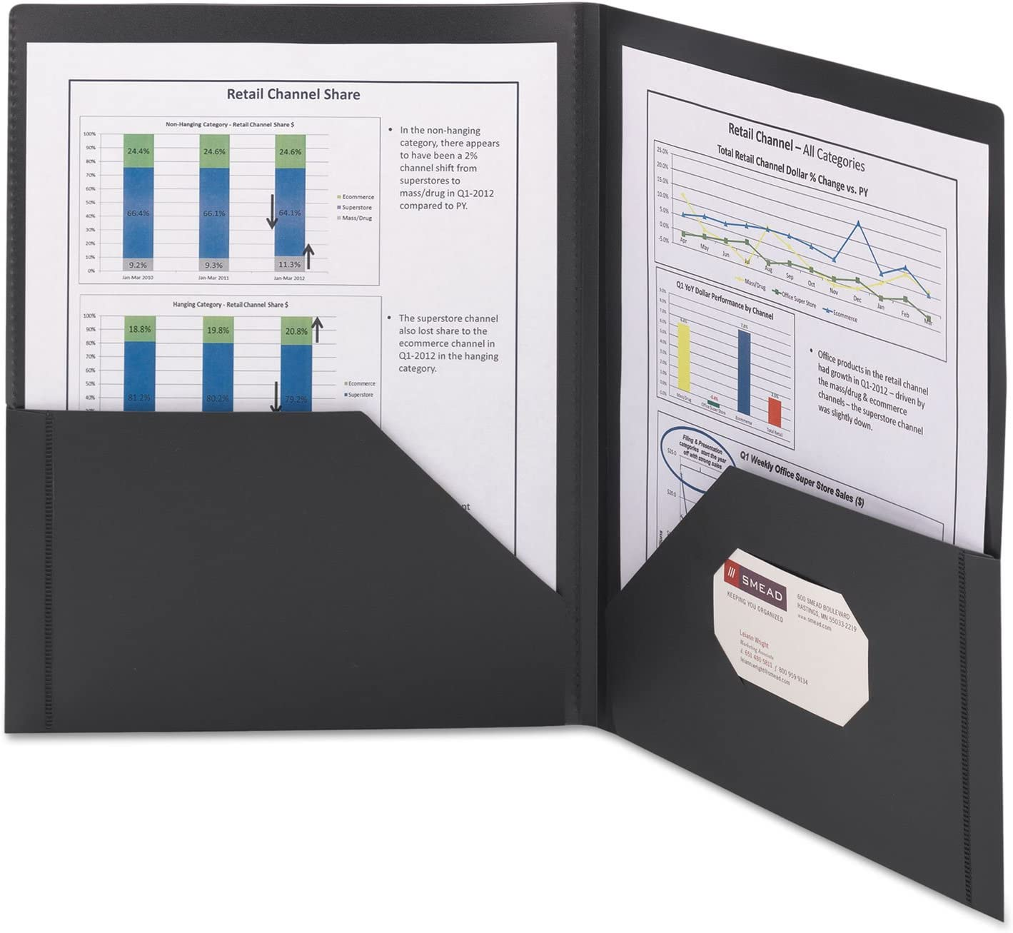 Smead Poly Ring Binder Pockets 9 x 11-1//2 Clear 3//Pack 89500