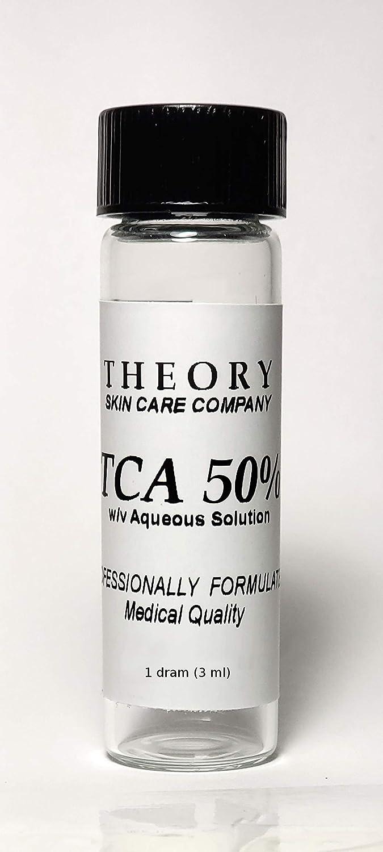 Trichloroacetic Acid 50% TCA Chemical Peel, 1 DRAM, Medical Grade, Wrinkles, Fine Lines, Freckles, Scars, Age spots