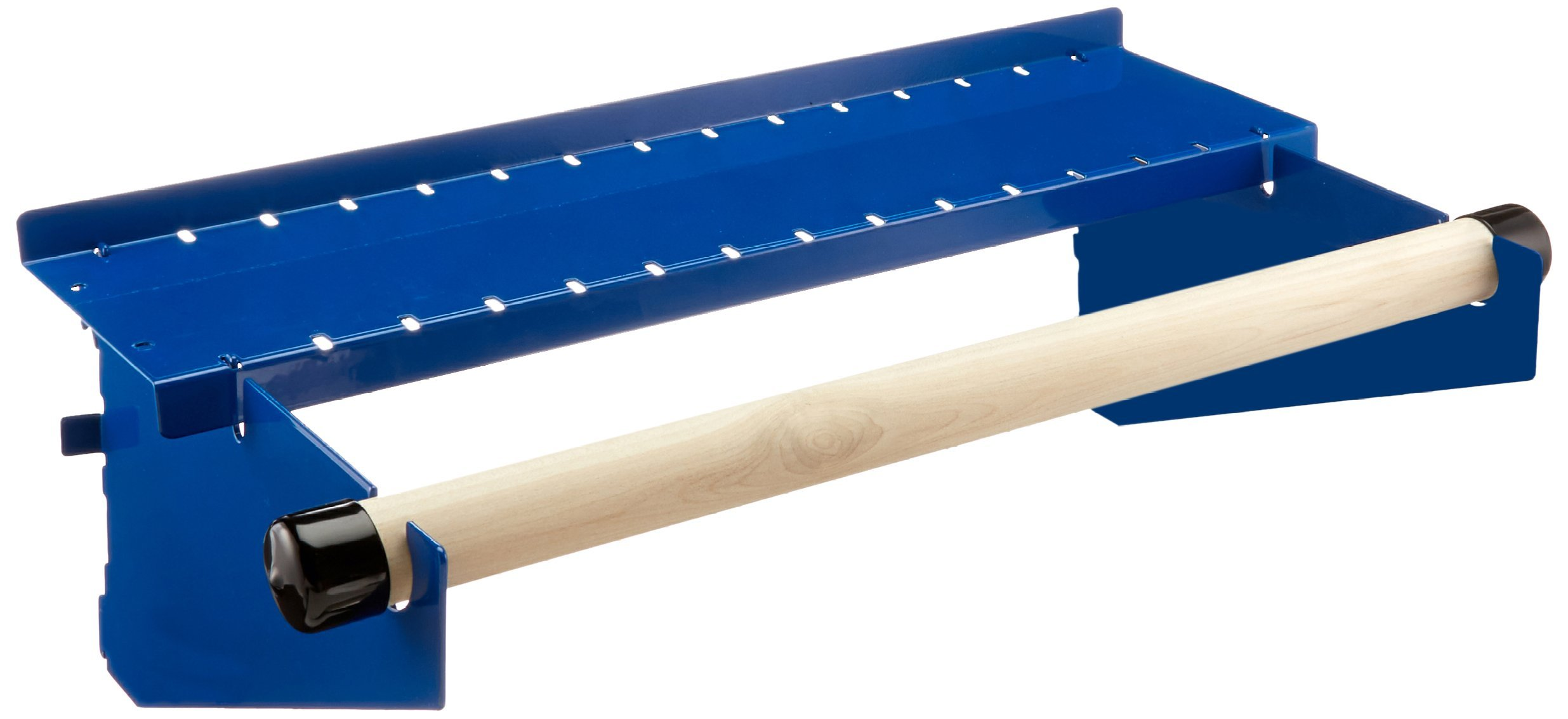 Wall Control ASM-HS-1694 BU Pegboard Paper Towel Holder and Dowel Rod Pegboard Shelf Assembly for Wall Control Pegboard Only