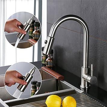 Homelody Einhebelmischer Wasserhahn Küche Armatur mit Ausziehbar ...