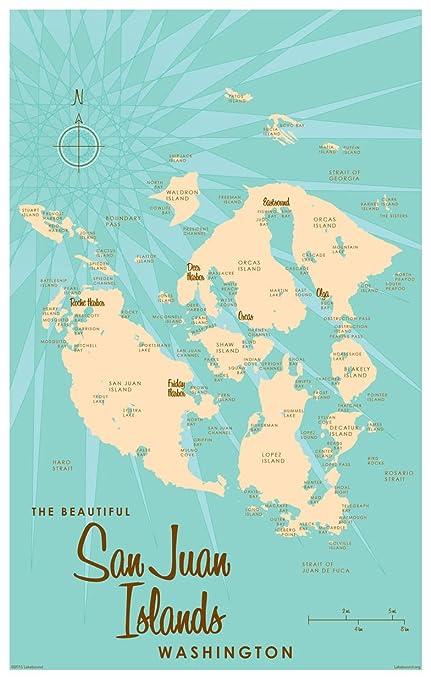 San Juan Islands Washington Vintage-Style Map Art Print Poster by Lakebound San Juan Island Map on seattle map, lopez island map, camano island map, caribbean islands map, bainbridge island map, oak harbor, orcas island map, strait of juan de fuca map, spieden island, whidbey island map, sucia island map, puget sound map, lopez island, point roberts, san juan county, barnes island, washington islands map, shaw island, canoe island, whidbey island, olympic peninsula map, strait of juan de fuca, blakely island, satellite island, hawaii islands map, vashon island map, bermuda islands map, lummi island map, roche harbor, friday harbor map, camano island, fidalgo island map, allan island, vancouver island map, friday harbor, battleship island, gulf islands, patos island map,
