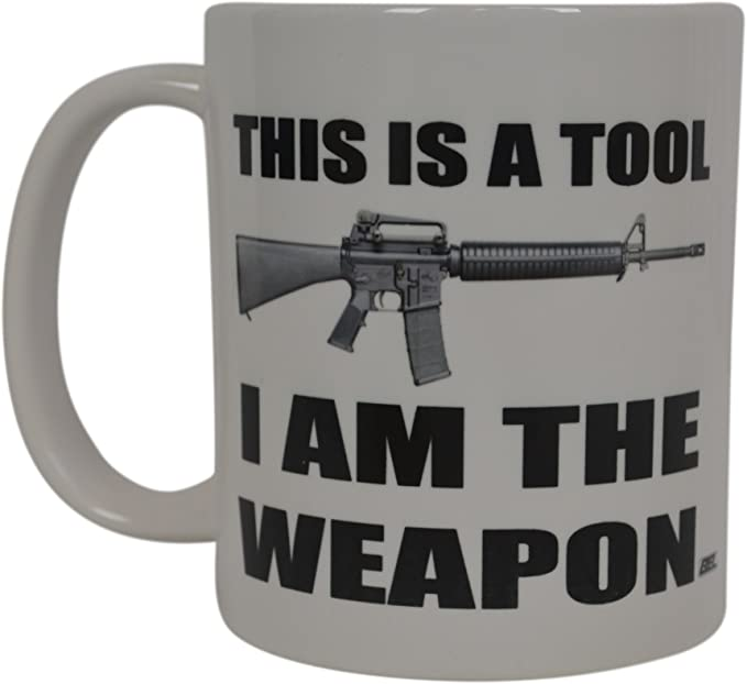 Funny Gun Lover Mug I/'m Either.. Great 2nd Amendment Gift Coffee /& Teacup