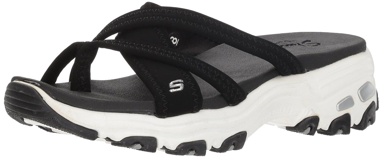 Skechers Women's D'Lites-Think Fast Sport Sandal B071XHPHPP 10 B(M) US|Black