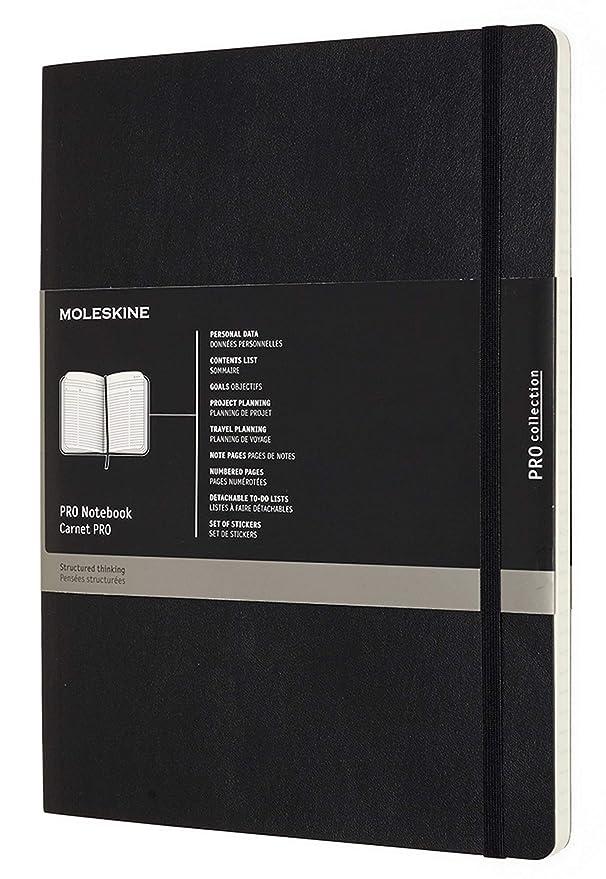 Amazon.com: Moleskine Cuaderno Profesional XL, Negro, Suave ...
